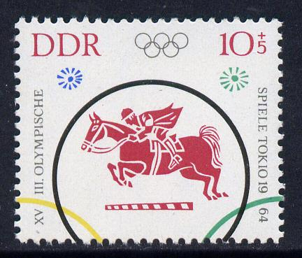 Germany - East 1964 Show Jumping 10pf+5pf from Tokyo Olympic Games set unmounted mint, SG E761