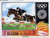 Ras Al Khaima 1970 Show Jumping 5R imperf from Olympics set unmounted mint, Mi 388B
