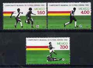 Mexico 1982 World Cup Football set of 3 unmounted mint, SG 1635-37*