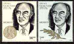 Mexico 1982 Alfonso Garcia Robles (Nobel Peace Prize Winner) set of 2 unmounted mint, SG 1664-65*