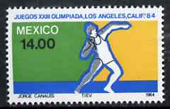 Mexico 1984 Shot 14p from Olympic Games set, SG 1708 unmounted mint*
