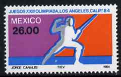 Mexico 1984 Fencing 26p from Olympic Games set, SG 1713 unmounted mint*