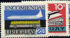 Uruguay 1969 Parcel Post set of 2 (Caravelle & Motor Coach) SG P1397-98 unmounted mint*