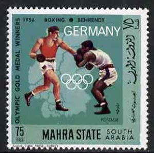Aden - Mahra 1968 Boxing 75f from German Olympics Gold Medal Winners set unmounted mint, Mi 103A*