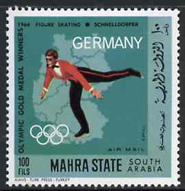 Aden - Mahra 1968 Figure Skating 100f from German Olympics Gold Medal Winners set unmounted mint, Mi 104A*