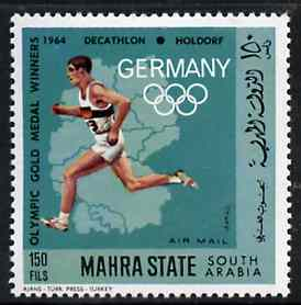 Aden - Mahra 1968 Running (Decathlon) 150f from German Olympics Gold Medal Winners set unmounted mint, Mi 105A*