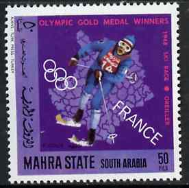 Aden - Mahra 1968 Skiing 50f from French Olympic Gold Medal Winners set unmounted mint, Mi 126A*