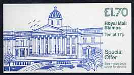 Booklet - Great Britain 1986 National Gallery \A31.70 booklet complete with margin at right, SG FT6