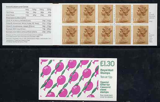 Booklet - Great Britain 1988 Children's Party Balloons \A31.30 booklet complete, SG FL14