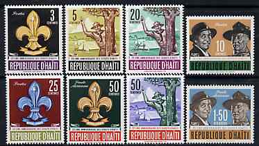 Haiti 1962 Boy Scout 22nd Anniversary set of 8, SG 811-18*