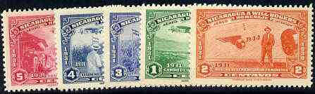 Nicaragua 1939 Will Rogers Commemoration set of 5 unmounted mint, SG 1029-33