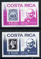 Costa Rica 1979 Rowland Hill set of 2 unmounted mint, SG 1138-39*
