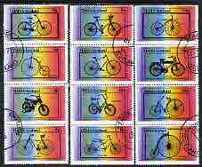 Staffa 1977 Bicycles complete perf set of 12 values (2p to �1) cto used