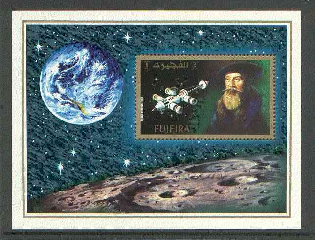 Fujeira 1971 400th Anniversary of Kepler's Birth perf m/sheet unmounted mint, Mi BL 88A