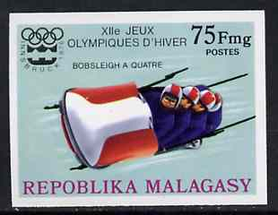 Malagasy Republic 1976 Bobsleigh 75f imperf from Winter Olympic Games set unmounted mint, as SG 330*