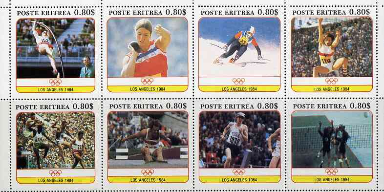 Eritrea 1984 Los Angeles Olympic Games perf set of 8 unmounted mint