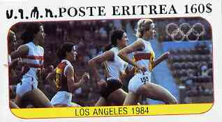 Eritrea 1984 Los Angeles Olympic Games (Running) imperf souvenir sheet ($160 value)