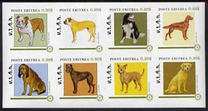 Eritrea 1984 Rotary - Dogs imperf set of 8 unmounted mint