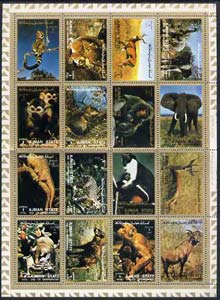 Ajman 1972 Animals #2 perf set of 16 unmounted mint