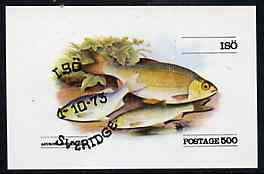 Iso - Sweden 1973 (Rudd) imperf souvenir sheet (500 value) cto used