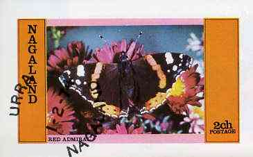 Nagaland 1974 Butterflies (Red Admiral) imperf souvenir sheet (2R value) cto used