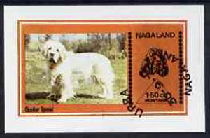 Nagaland 1973 Clumber Spaniel imperf souvenir sheet (1.5ch value) cto used