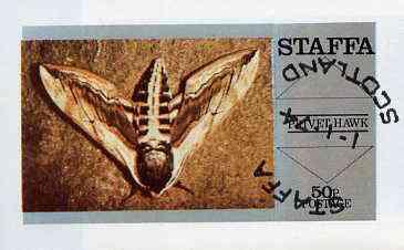 Staffa 1974 Butterflies (Privet Hawk) imperf souvenir sheet (50p value) cto used