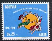 Bolivia 1975 Centenary of UPU unmounted mint, SG 984, Mi 905*