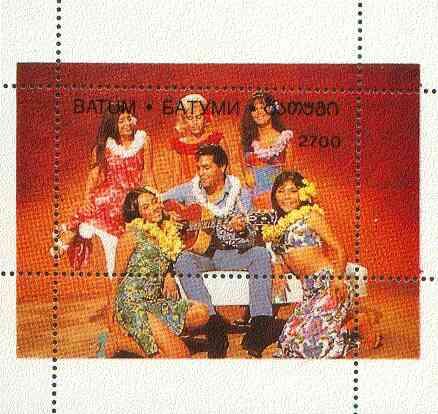 Batum 1996 Elvis Presley (Paradise Hawaiian Style) perf souvenir sheet unmounted mint