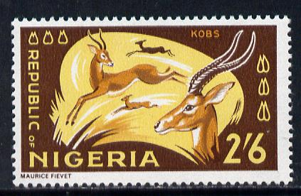 Nigeria 1965-66 Kobs 2s6d from Animal Def set unmounted mint SG 182*