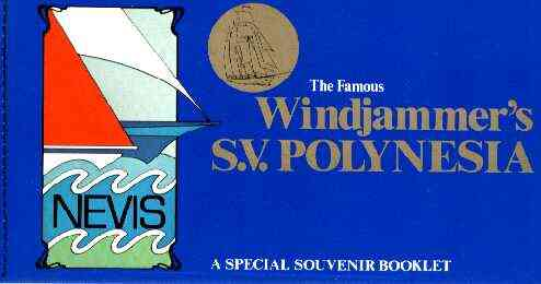 Booklet - Nevis 1980 Windjammer's $12.30 booklet (SV Polynesia & The Caona) complete, SG SB1