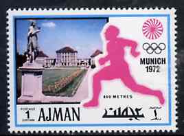 Ajman 1971 800 metres 1dh from Munich Olympics perf set of 20, Mi 726 unmounted mint