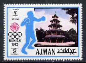 Ajman 1971 Boxing 2dh from Munich Olympics perf set of 20, Mi 727 unmounted mint