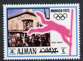 Ajman 1971 Pole Vault 4dh from Munich Olympics perf set of 20, Mi 729 unmounted mint