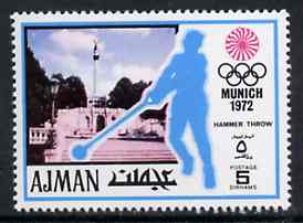 Ajman 1971 Hammer 5dh from Munich Olympics perf set of 20, Mi 730 unmounted mint