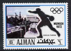Ajman 1971 Discus 6dh from Munich Olympics perf set of 20, Mi 731 unmounted mint