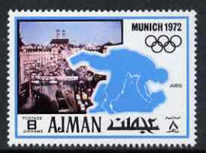 Ajman 1971 Judo 8dh from Munich Olympics perf set of 20, Mi 732 unmounted mint