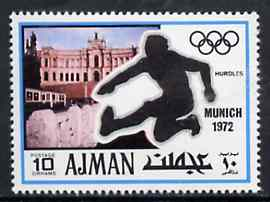 Ajman 1971 Hurdling 10dh from Munich Olympics perf set of 20, Mi 733 unmounted mint