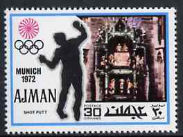 Ajman 1971 Shot Putt 30dh from Munich Olympics perf set of 20, Mi 738 unmounted mint