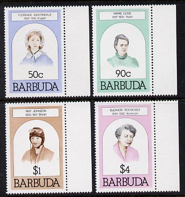 Barbuda 1981 Famous Women set of 4 unmounted mint, SG 546-9