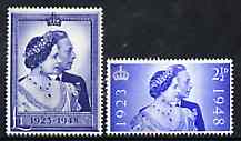 Great Britain 1948 KG6 Royal Silver Wedding unmounted mint set of 2