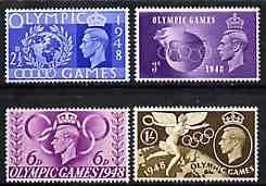 Great Britain 1948 Olympic Games unmounted mint set of 4, stamps on olympics, stamps on  kg6 , stamps on