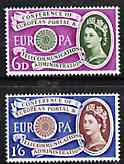 Great Britain 1960 Europa - CEPT Conference set of 2 unmounted mint SG 621-22