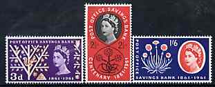 Great Britain 1961 Post Office Savings Bank unmounted mint set of 3, SG 623-25