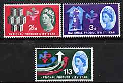 Great Britain 1962 National Productivity Year unmounted mint set of 3 (ordinary) SG 631-33