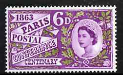 Great Britain 1963 Paris Postal Conference unmounted mint (ordinary) SG 636*