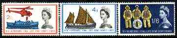 Great Britain 1963 Lifeboat Conference unmounted mint set of 3 (phosphor) SG 639p-41p