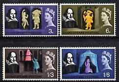 Great Britain 1964 Shakespeare Festival unmounted mint set of 4 (phosphor)  SG 646-49