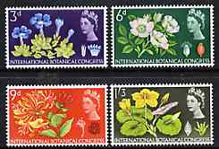 Great Britain 1964 Botanical Conference unmounted mint set of 4 (ordinary) SG 655-58*