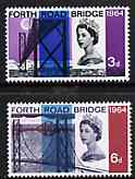 Great Britain 1964 Opening of Forth Road Bridge unmounted mint set of 2 (ordinary) SG 659-60*